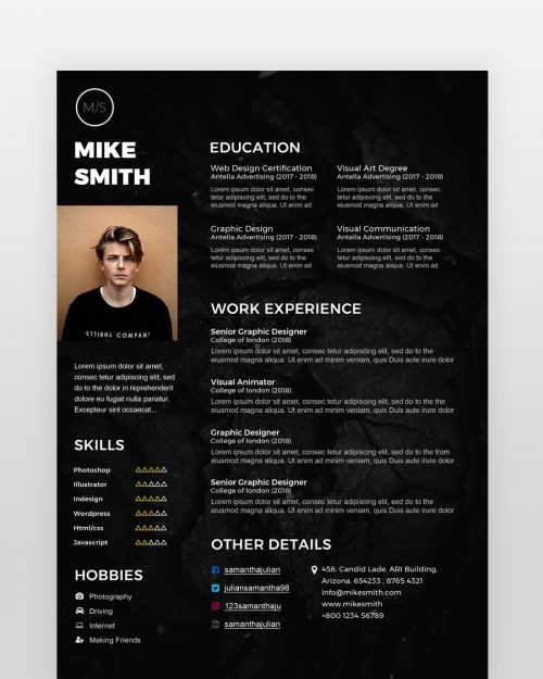 Black Designer Resume Template