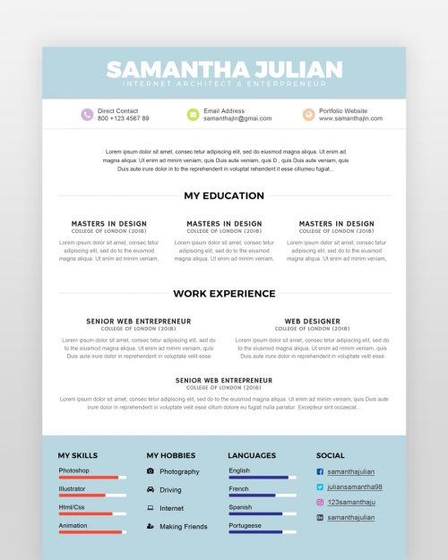 Simple Accountant Resume Template