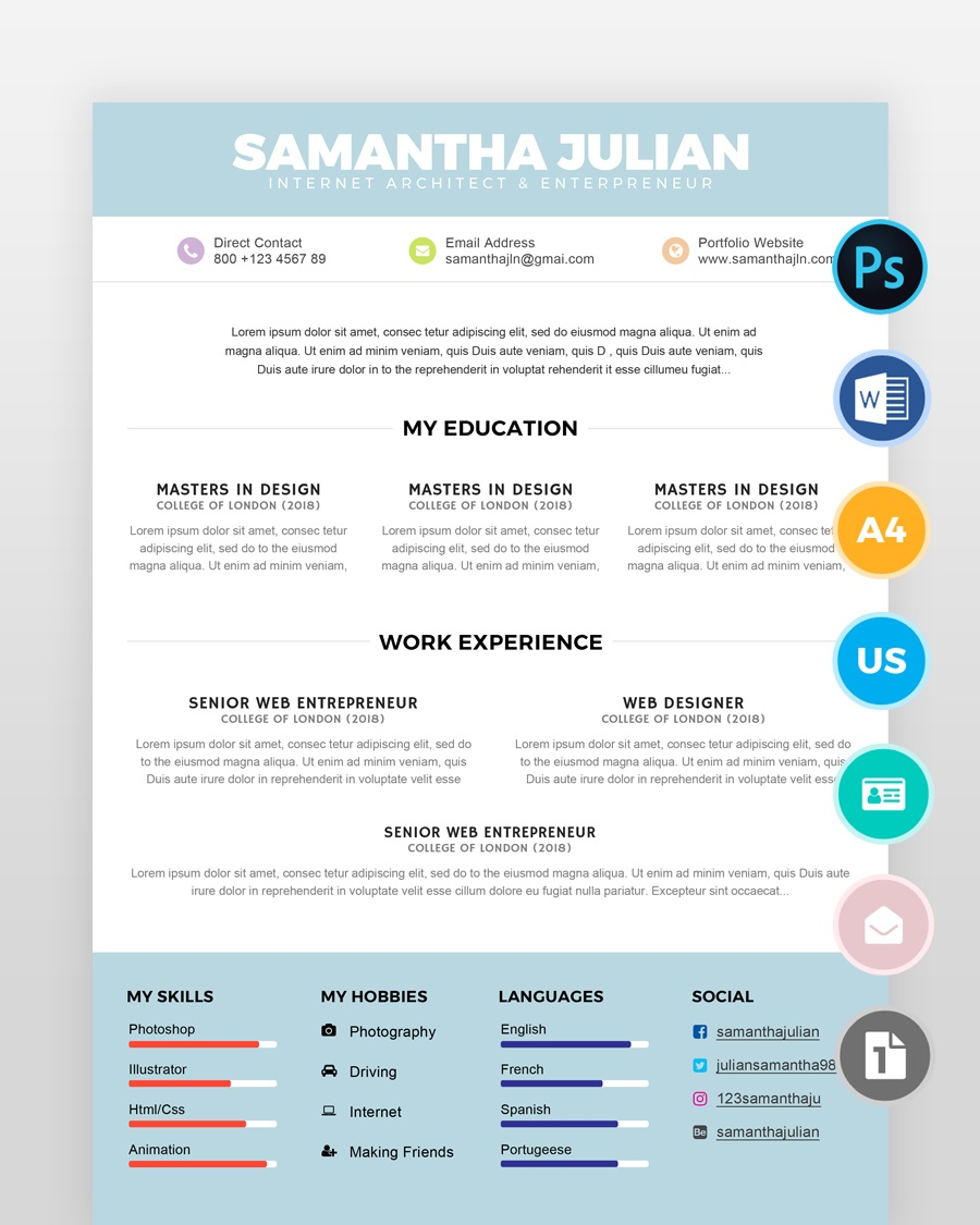 Simple Accountant Resume Template2