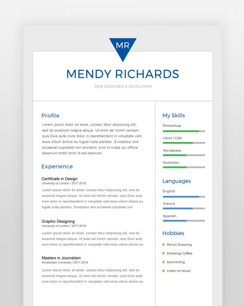 Two Page Designer Resume Template